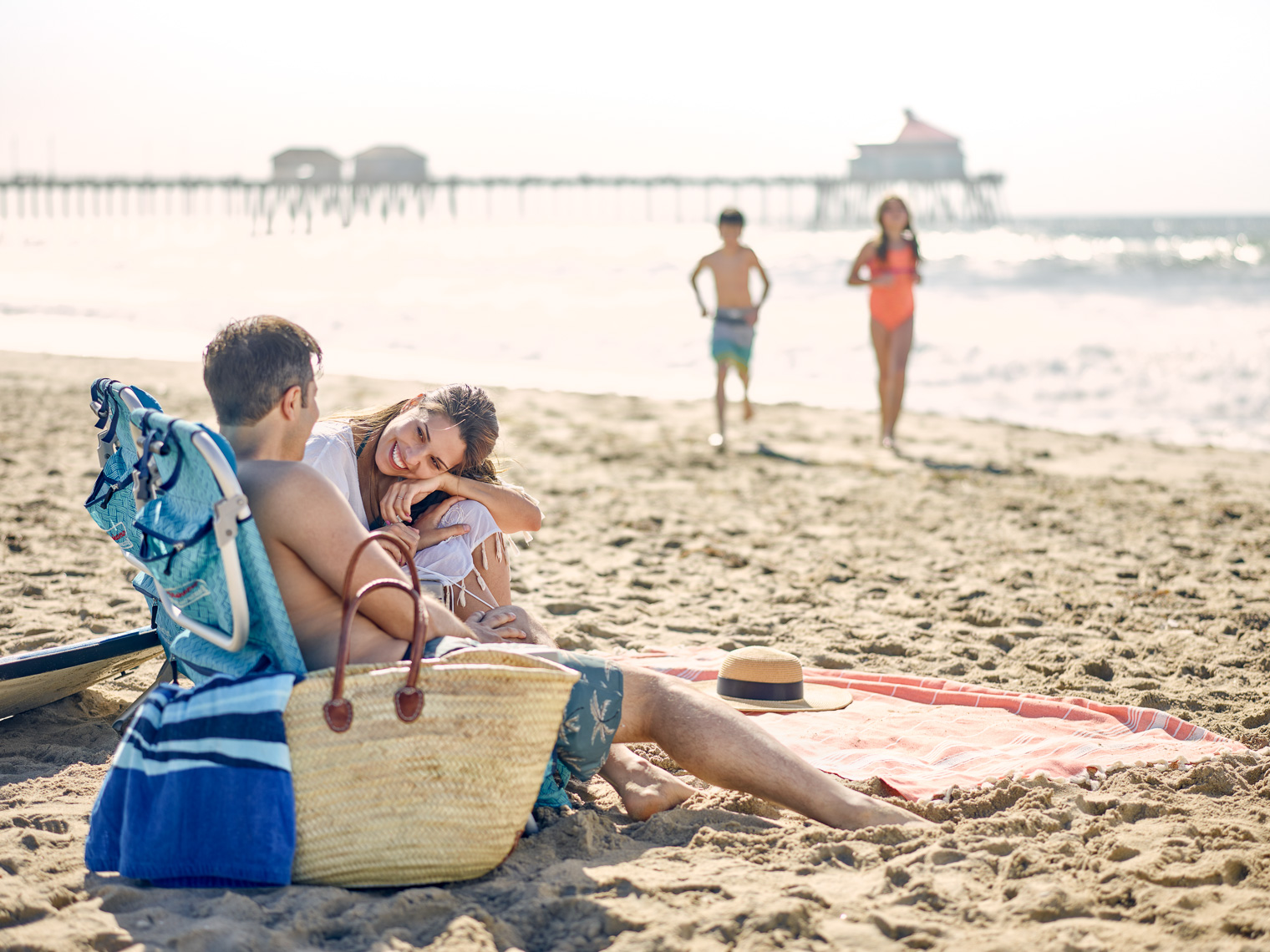Kevin Steele - A family enjoys the California beach