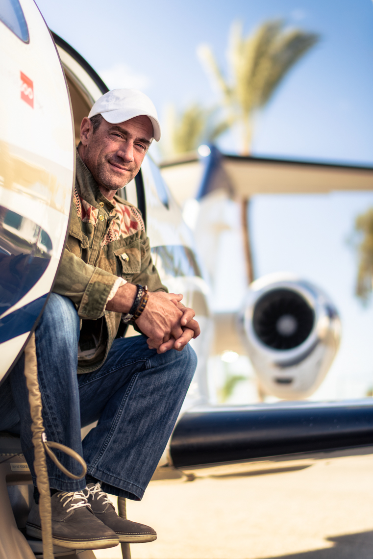 Kevin Steele - portrait of actor Chris Malone and his jet