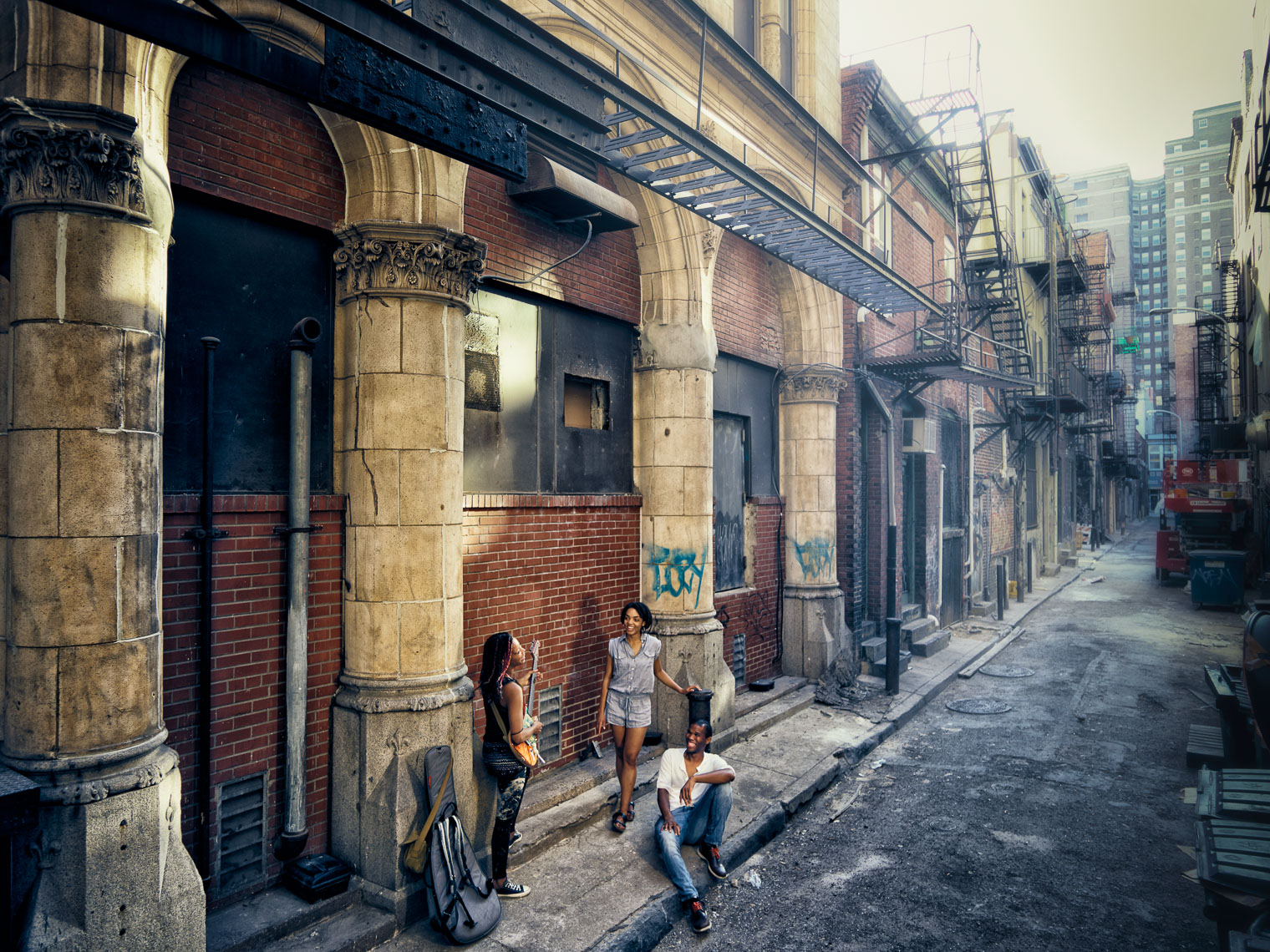 Kevin Steele - hanging out in an urban Philadelphia alley