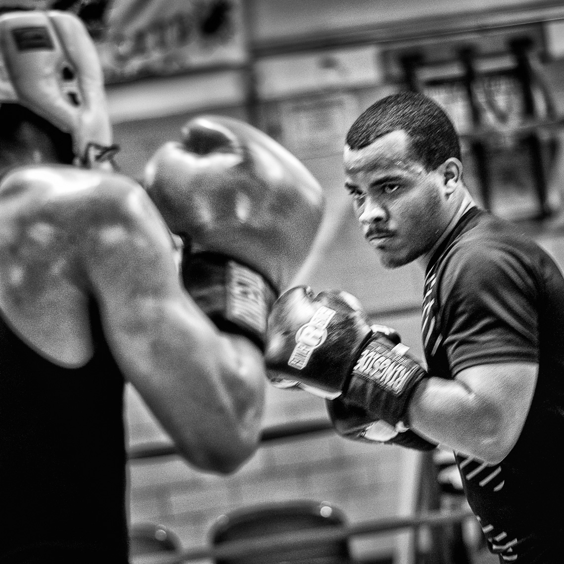Kevin Steele - two boxers training in an urban gym