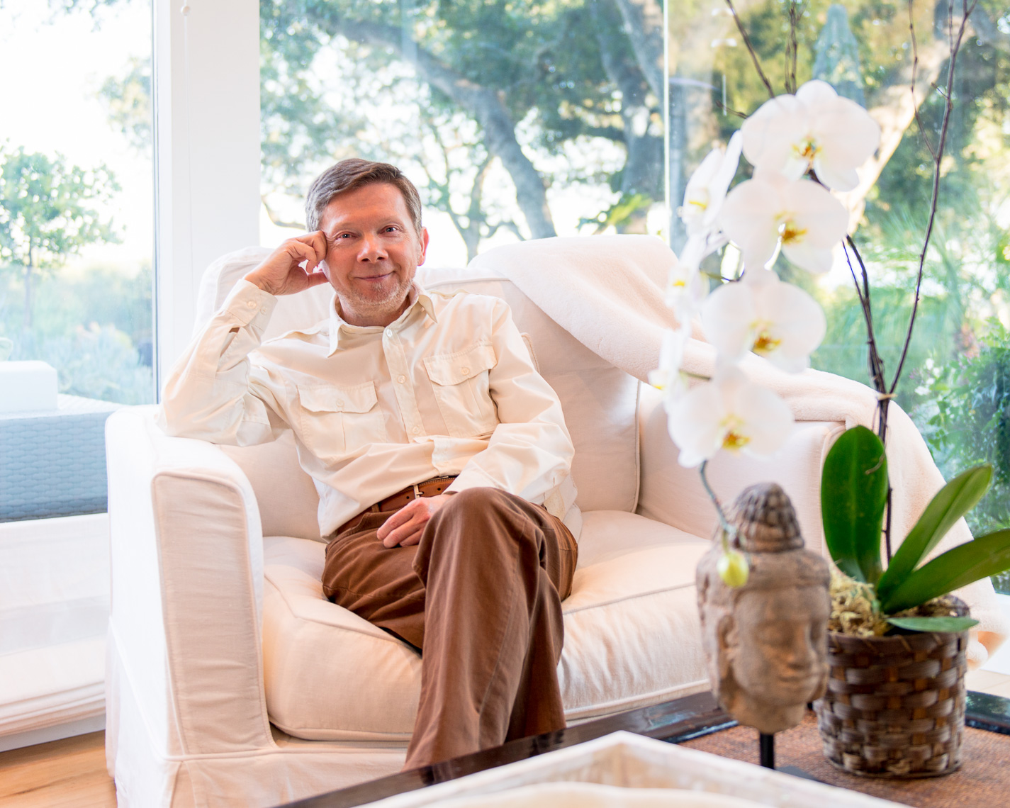 Eckhart Tolle in Montecito for Spirituality & Health magazine, February 28, 2013. © Kevin Steele, one time print rights