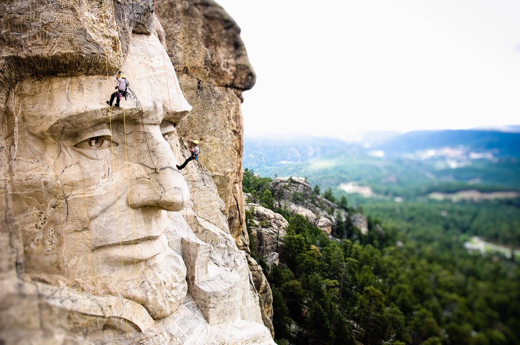 Kevin Steele - rangers on the faces of  Mount Rushmore