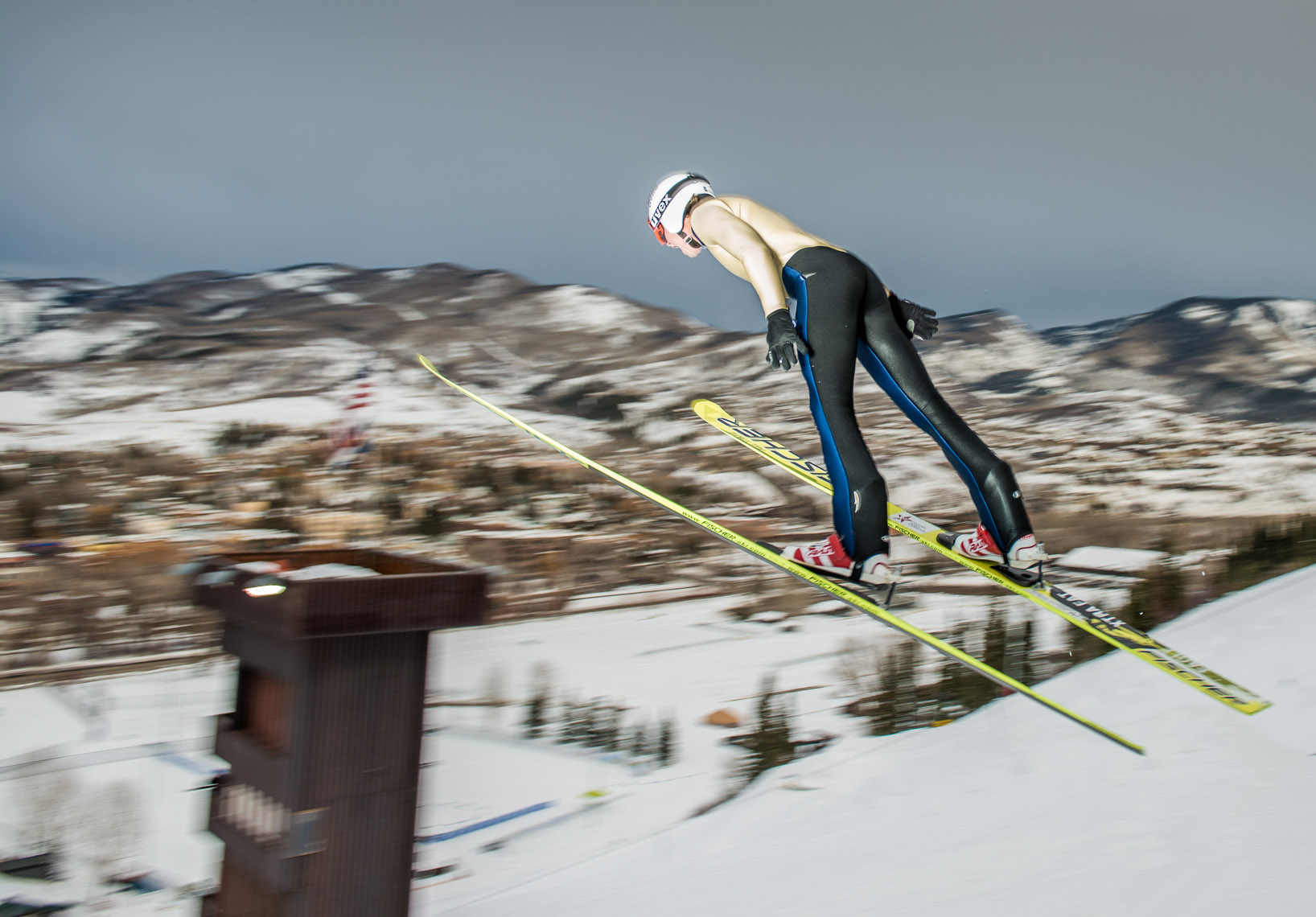 Kevin Steele - a ski jumper takes flight