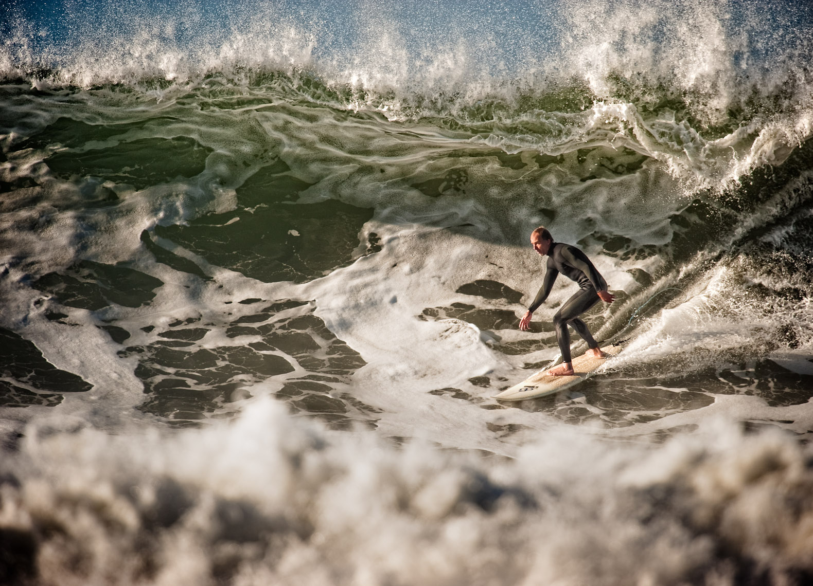 Kevin Steele - a surfer on a big wave at Rincon